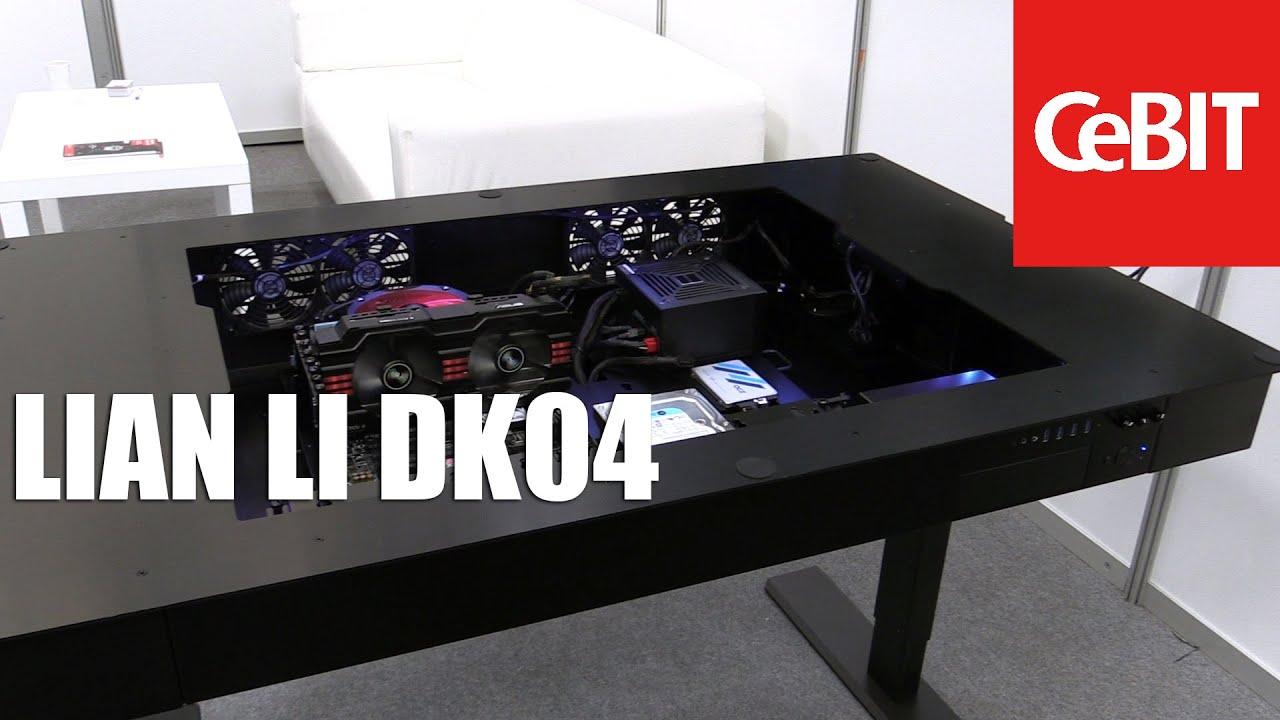 Lian Li DK04 Verstellbarer Tisch und Gehuse in einem
