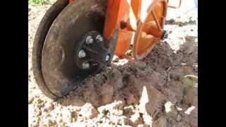 Notill Push Planter Opener & Press Wheel Action