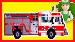 Camión de bomberos. Dibujos animados de bomberos para niños  en español. Coches para niños dibujos