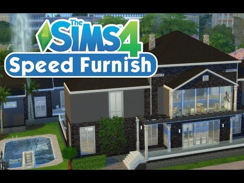 The Sims 4 Toddler Stuff Speed Build Part 2 - Furnishing the Cobb Family Home