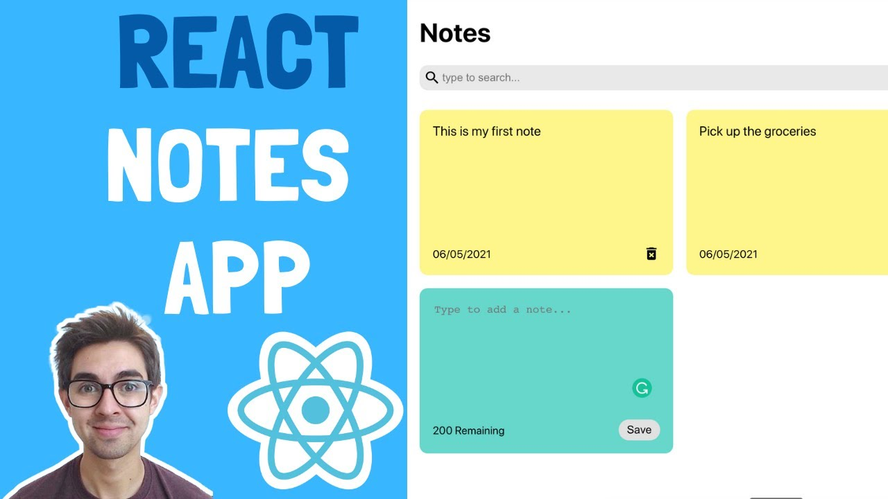 React Notes App Tutorial From Scratch   A CSS and React Project You Can Add to Your Portfolio!
