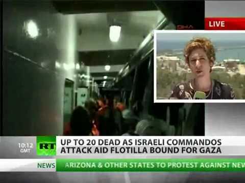 Israel army kill 20 people on board Gaza flotilla aid'.flv
