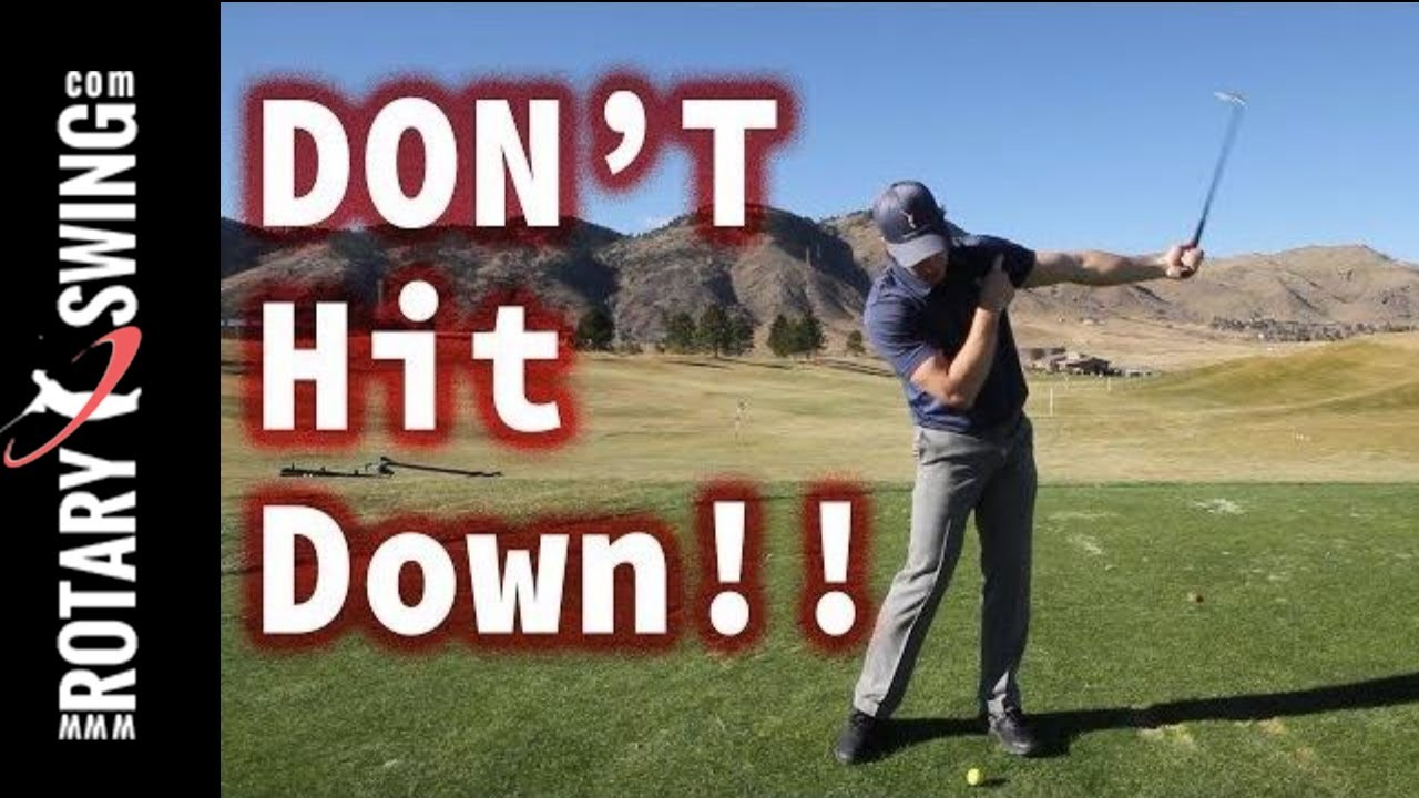 Hitting Down On The Golf Ball Why You Shouldn T
