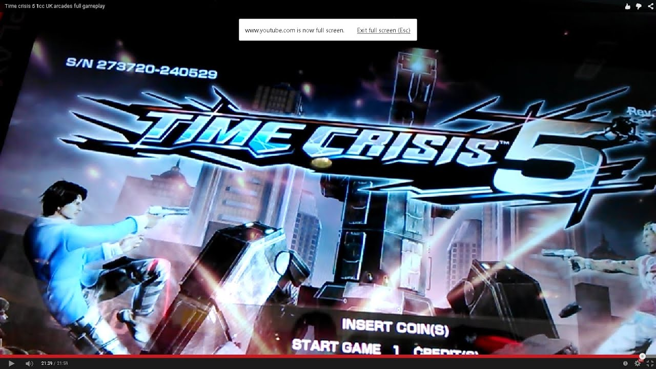 BANDAI NAMCO TIME CRISIS 5 ARCADE 1cc FULL GAMEPLAY UK ...