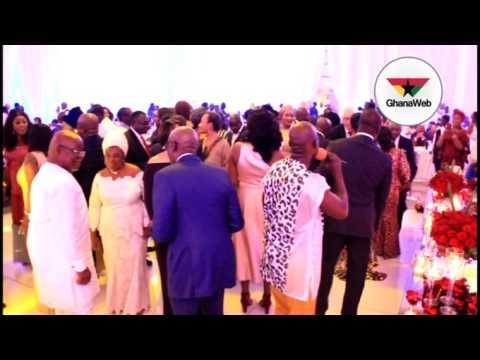 Mike Oquaye, Bawumia, others dance to Kwabena Kwabena's 'Mewu' at Akufo-Addo's wedding anniversary