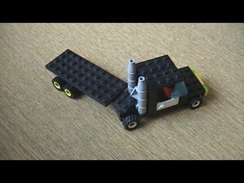 Грузовик с прицепом из LEGO
