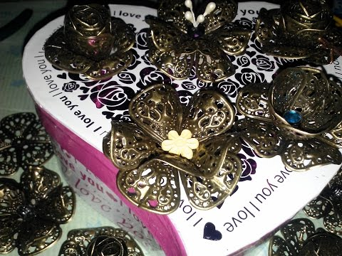 DIY METAL FLOWERS USING FILIGREE PURCHASED FROM CHINA / EBAY