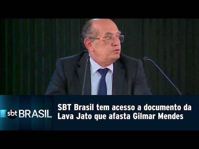 SBT Brasil tem acesso a documento da Lava Jato que afasta Gilmar Mendes | SBT Brasil (07/03/19)