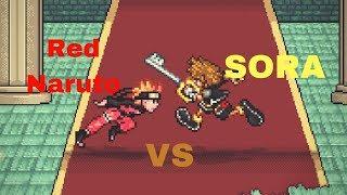 Red Naruto vs Sora