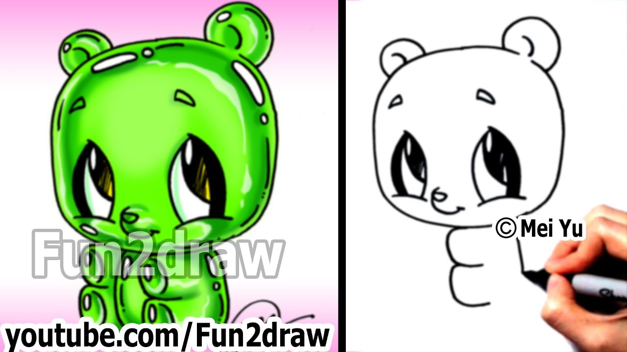 Free coloring pages of fun2draw fun food for Fun things to draw