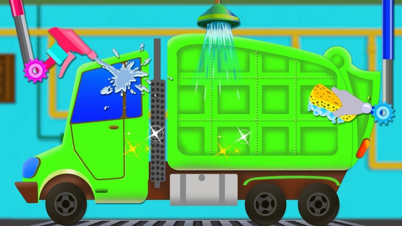 garbage truck car wash