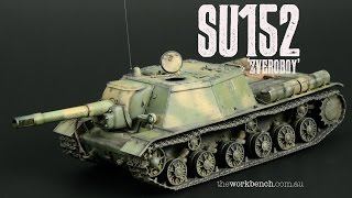 SU152 1/48th Plastic Model kit from Bronco - Finished Pictures