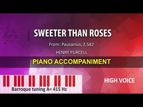 Sweeter Than Roses / Purcell: Karaoke + Score guide (A=415) / High voice