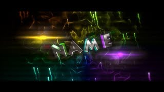 #73 [Colorful/Plastic/Sync] Intro Template - Blender [2.79]