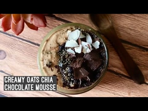 Overnight Oats Chocolate Mousse | How to make Oats Chia Choco Pudding | Healthy Easy Breakfast Snack