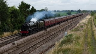 46115 hoots past Colton Junction - Scarborough Spa Express - 31/07/13