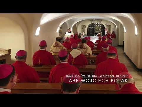 Abp Polak: Głośmy Ewangelię nadziei (ad limina apostolorum 2021 - grupa 3 - dzień 1)