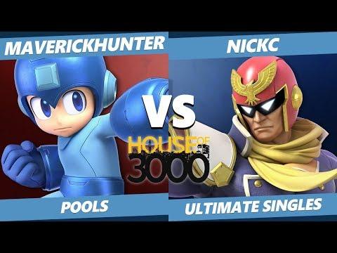 Xeno 200 Pools - MaverickHunter (Mega Man) Vs. NickC (Captain Falcon) Smash Ultimate - SSBU