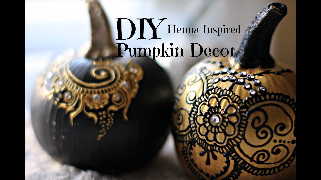Mehndi Decoration Germany : Diy henna inspired pumpkin decor hennafly doovi