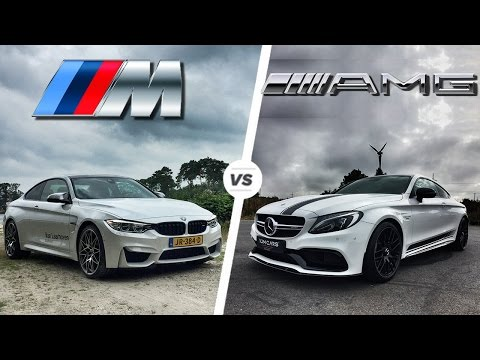 BMW M4 2017 Vs Mercedes C63 AMG Coupe 2017 ACCELERATION & TOP SPEED POV