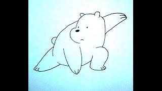 how to draw polar, como desenhar polar, como dibujar polar ursos sem curso