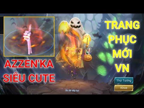 Trang phục Halloween CUTE nhất Liên quân 😂 Azzen'Ka Ghẹo hay kẹo 🍭🍭