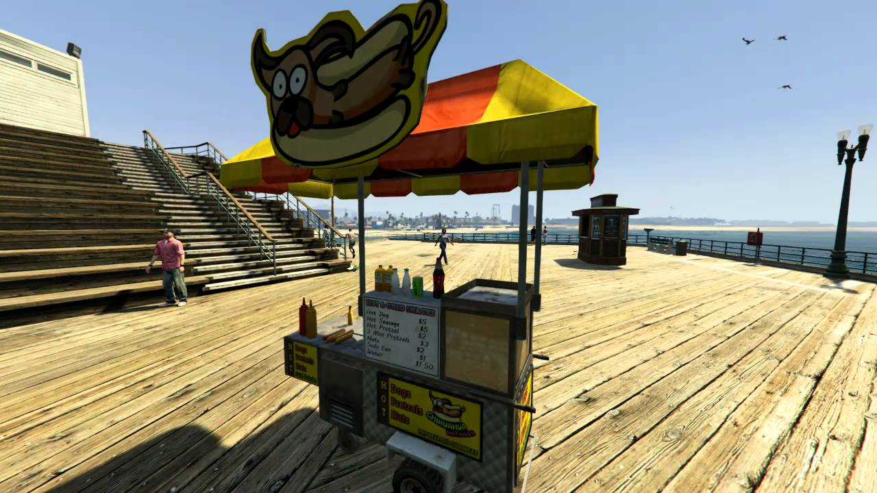 Gta V How To Run A Hot Dog Stand - Youtube-9488