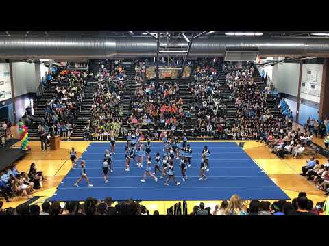 Belleville East Basketball and Football Cheerleading 2018