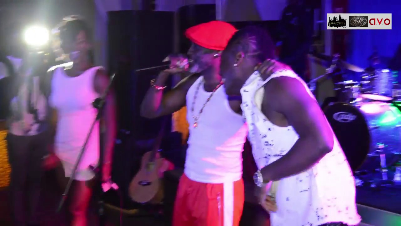 Ebony performs with Asamoah