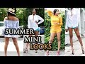 HOW TO WEAR SHORTS // HOT PANTS 3 WAYS | SUMMER CASUAL//DATE NIGHT OUTFITS  | SHORTS + HOTPANTS