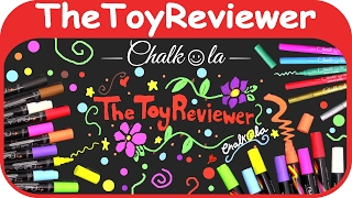 Chalkola Chalk Markers Metallic Pens Window Jumbo Colors Unboxing Toy Review by TheToyReviewer