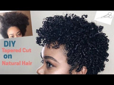 diy tapered cut natural hair