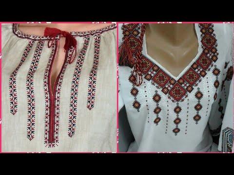 Beautiful Cross Stitch Neck Designs