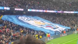 Manchester City New Badge Display Vs Sunderland At Home