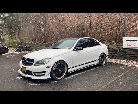 Mercedes C300 Drifting in Snow, Exhaust Clips