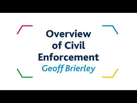 Overview  of Civil Enforcement - Geoff Brierley