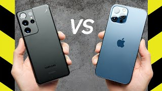 Galaxy S21 Ultra vs. iPhone 12 Pro Max Drop Test!