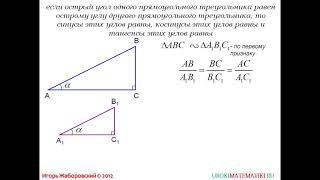 Синус, косинус и тангенс острого угла прямоуг. треугольника | Геометрия 7-9 класс #66 | Инфоурок