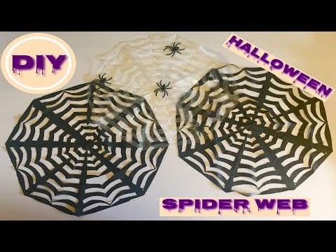 Diy Halloween Spider Web