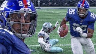 SAQUON BARKLEY BREAKING ANKLES IN 1ST NFL GAME! Madden 18 Rookie Career Mode Gameplay Ep. 2