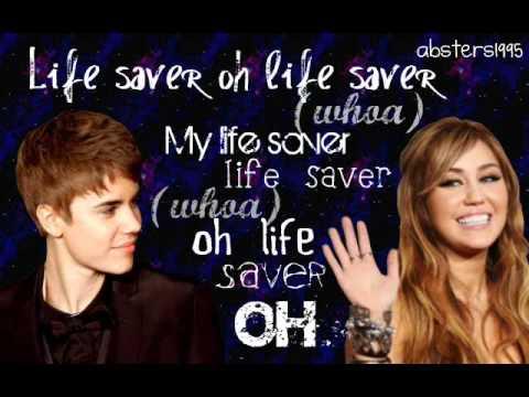 Justin Bieber ft. Miley Cyrus- Overboard- Lyrics