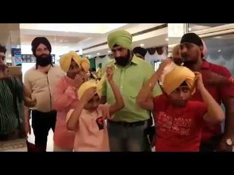 sikh children linked dastarbandi competition to the religion and culture in kanpur