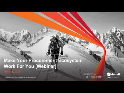Procurement Leaders, Make Your Ecosystem Work for You