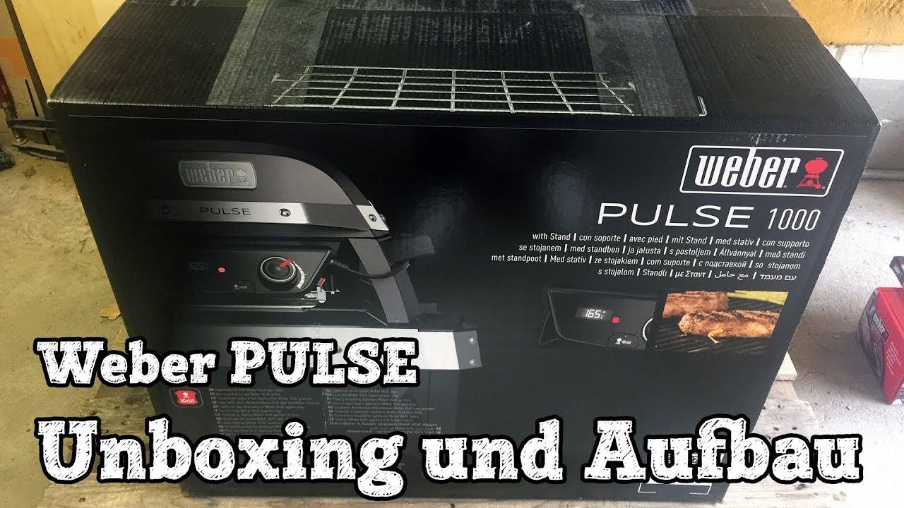 Weber Elektrogrill Lachs : Weber pulse unboxing und aufbau youtube