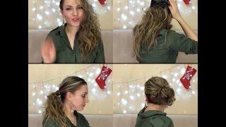 4 Быстрые прически на накрученные волосы )))