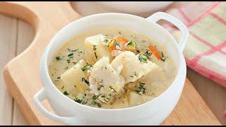 Рыбный суп со сливками. Традиционное финское блюдо.