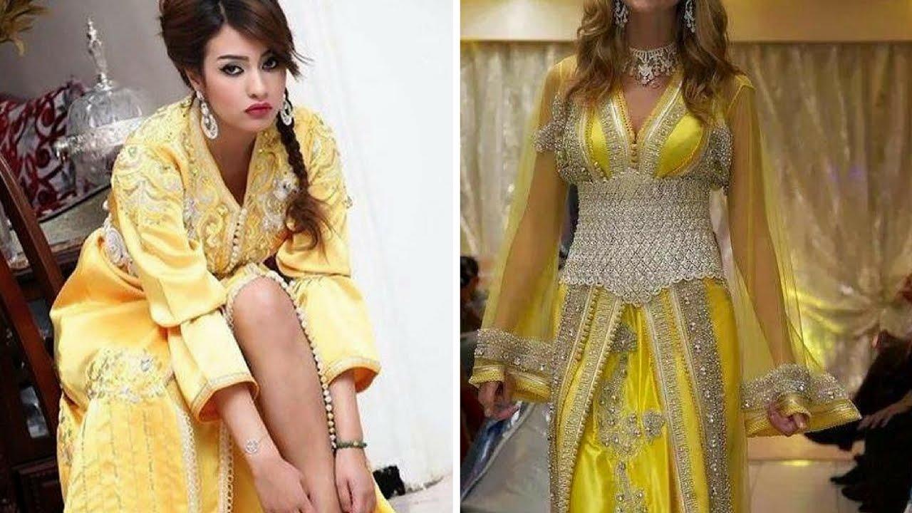 f62a6efb7c6da Top Caftan Jaune Collection Lux 2017 آخر صيحات القفطان المغربي باللون الأصفر
