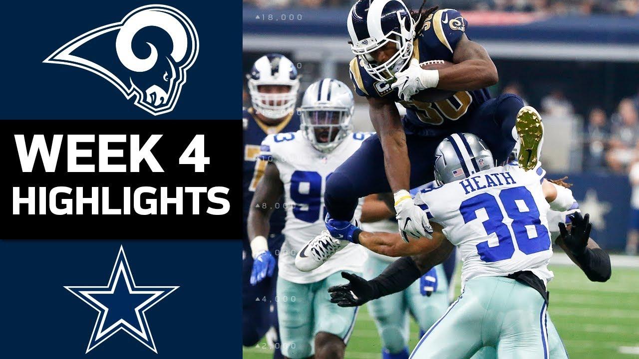 Rams Vs Cowboys Nfl Week 4 Game Highlights Youtube