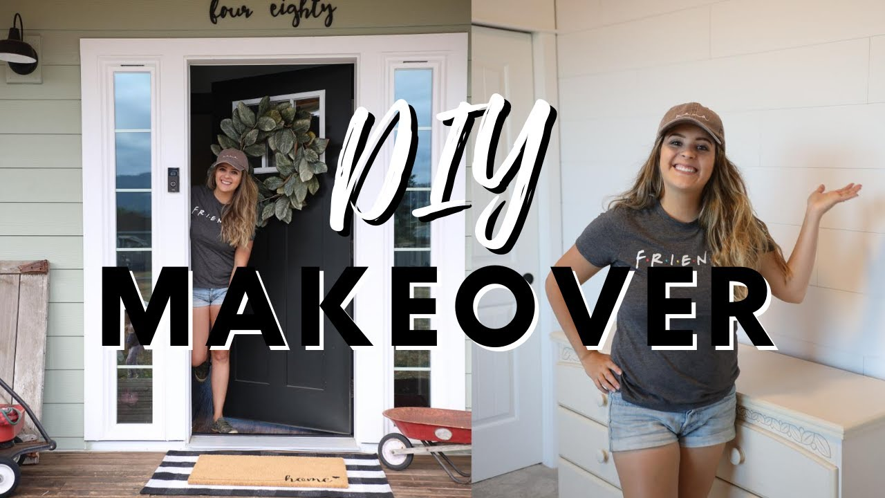 DIY Front Porch Makeover + DIY Peel & Stick Shiplap