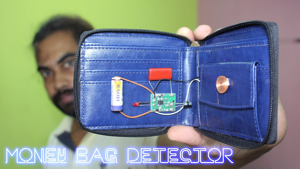 how to make money bag detector using circuit
